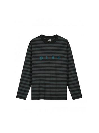 OLAF HUSSEIN Stripe LS Dark Grey Medium Grey