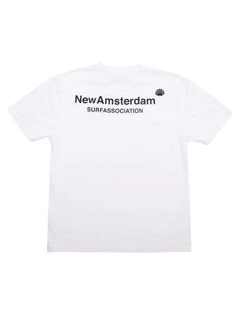 New Amsterdam Surf Association Logo Tee White