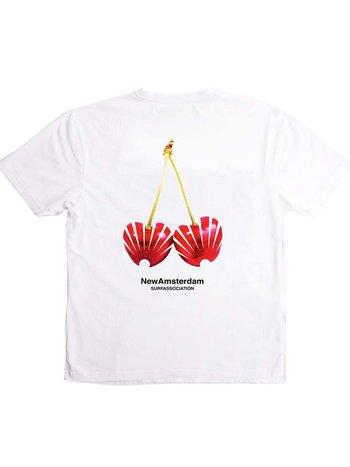 New Amsterdam Surf Association Cherry Tee White