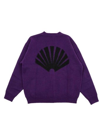 New Amsterdam Surf Association Logo Cardigan Prism Violet