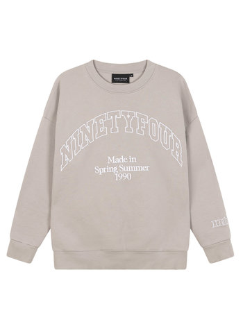 Ninety Four NTF College Sweater Grey
