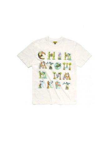 Chinatown Market Watercolor Sea Creatures T-Shirt Cream