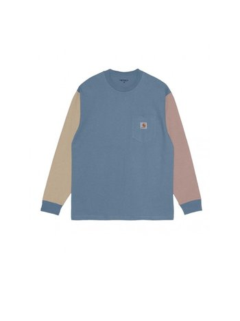Carhartt WIP LS Triple Pocket T-Shirt Icesheet wall Earthy Pink