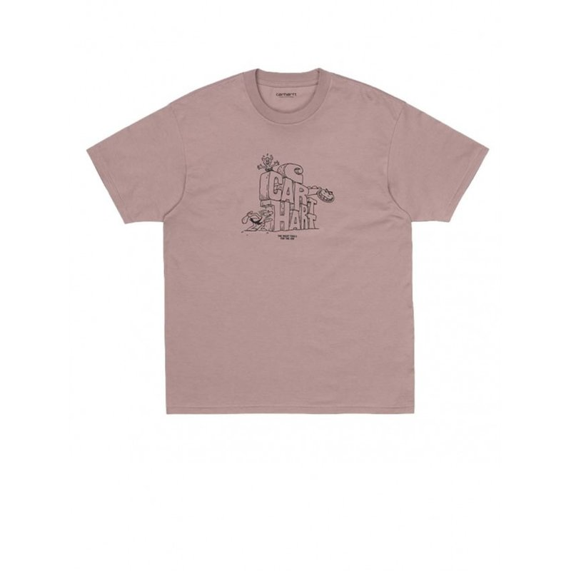 Carhartt WIP SS Stoneage T-Shirt Earthy Pink Black