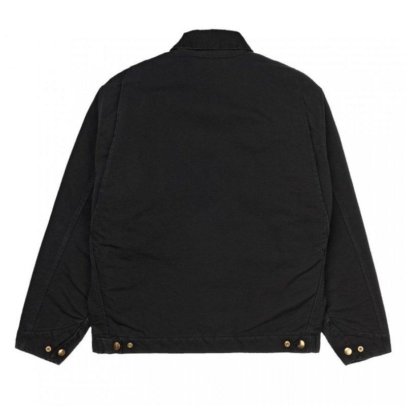 Carhartt WIP OG Detroit Jacket Black Aged Canvas