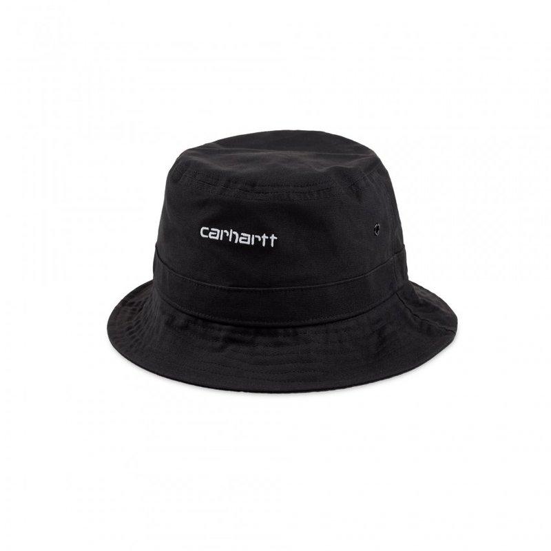 Carhartt WIP Script Bucket Hat Black White