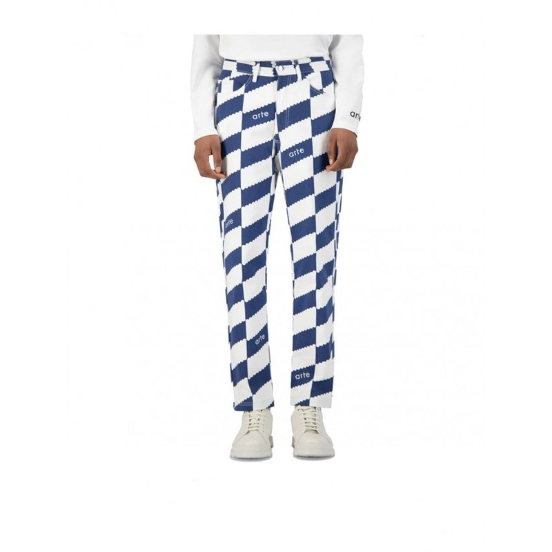 Arte Antwerp Jean Dia Pants White Navy