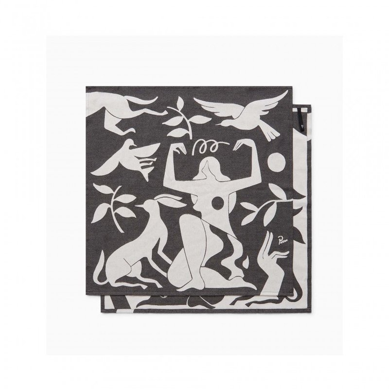 By Parra Earth Mother Kitchen Towel 2Pack Black