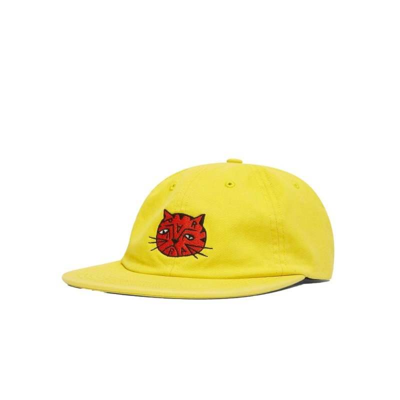 By Parra Sad Cat 6 Panel Hat Yellow
