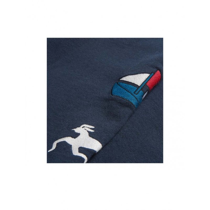 By Parra Paper Dog Systems Hooded Sweatshirt Navy Blue