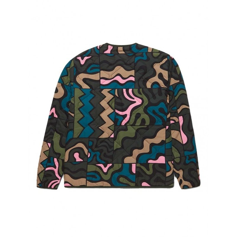 By Parra Gem Stone Pattern Quilted Jacket Multi