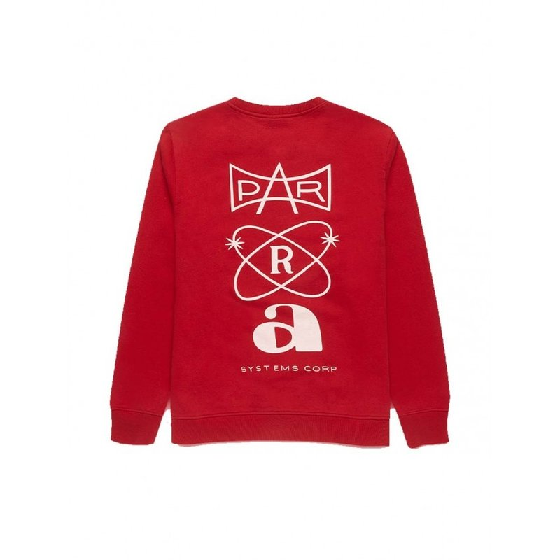 By Parra Systems Logo Crew Neck Sweatshirt Red