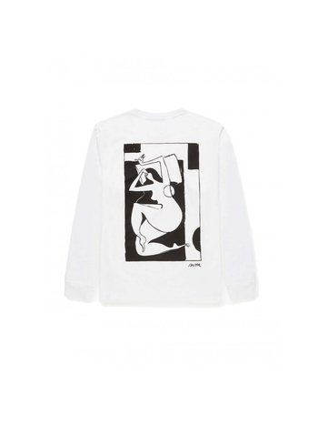 By Parra Rest Day Long Sleeve T-Shirt White