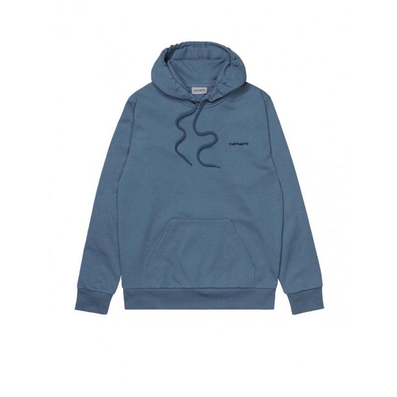 Carhartt WIP Hooded Script Embroidery Sweat Icesheet Black