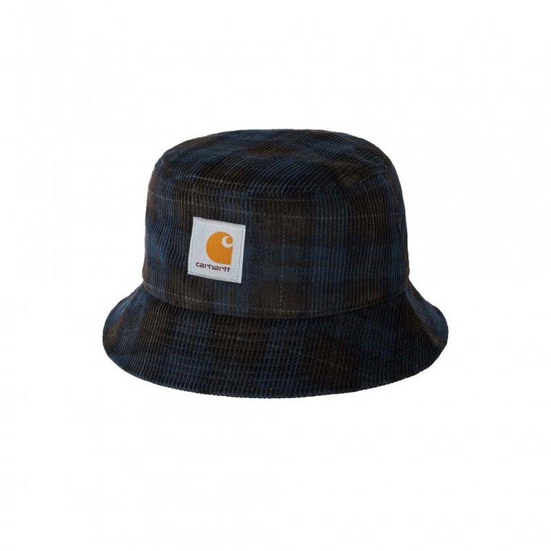 Carhartt WIP Corduroy Bucket Hat Breck Check Tobacco