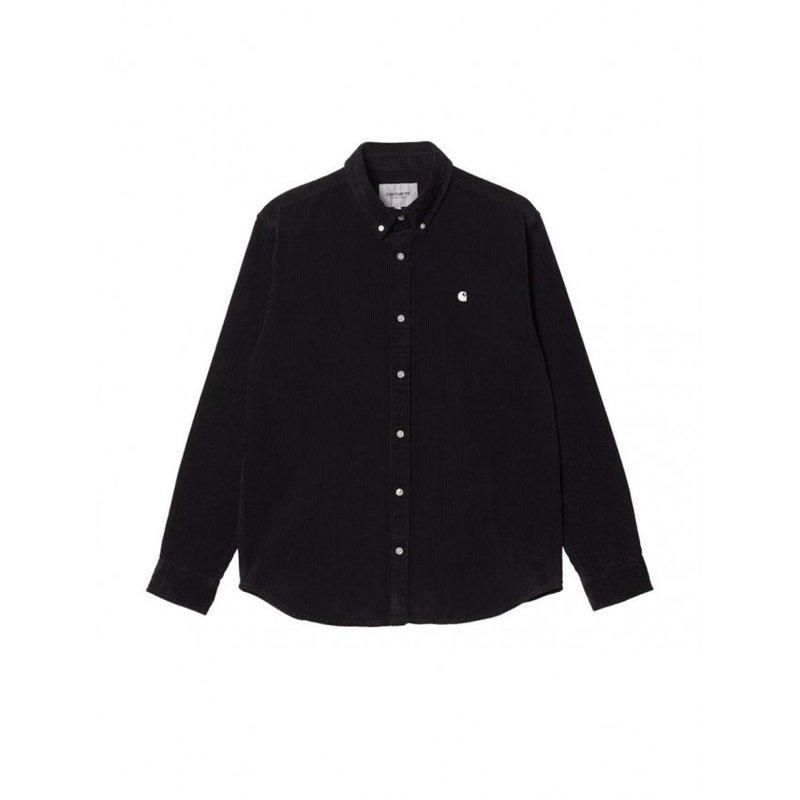 Carhartt WIP LS Madison Corduroy Shirt Black Wax