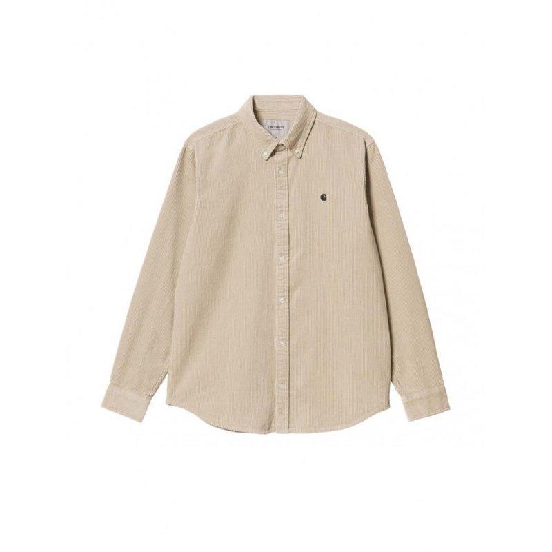 Carhartt WIP LS Madison Corduroy Shirt Wall Black