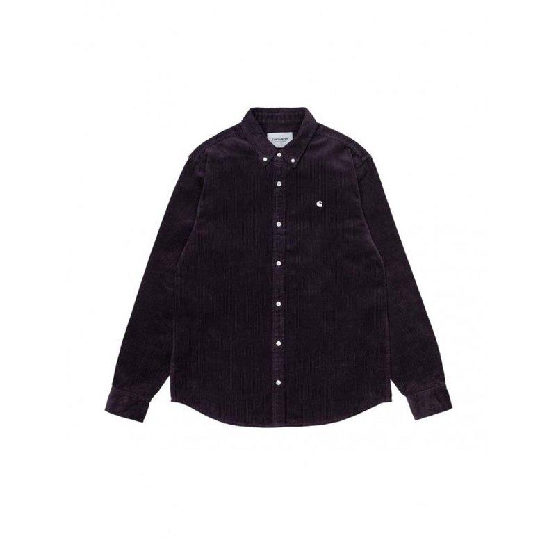Carhartt WIP LS Madison Corduroy Shirt Dark Iris Wax