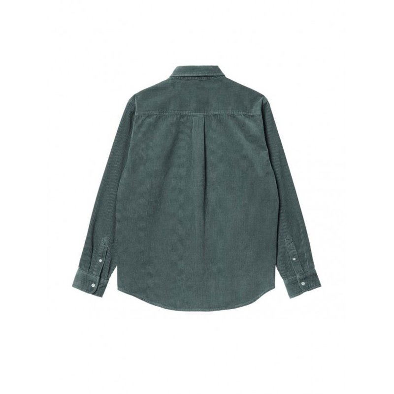 Carhartt WIP LS Madison Corduroy Shirt Eucalyptus Black