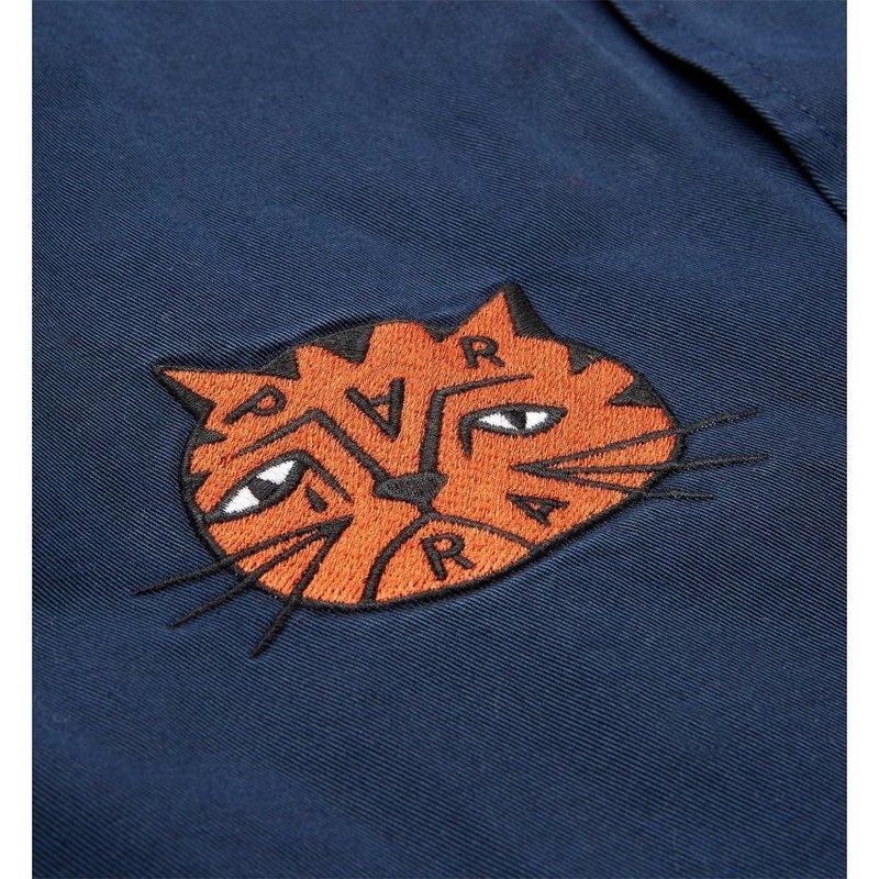 By Parra Sad Cat Pencil System Jacket Blue