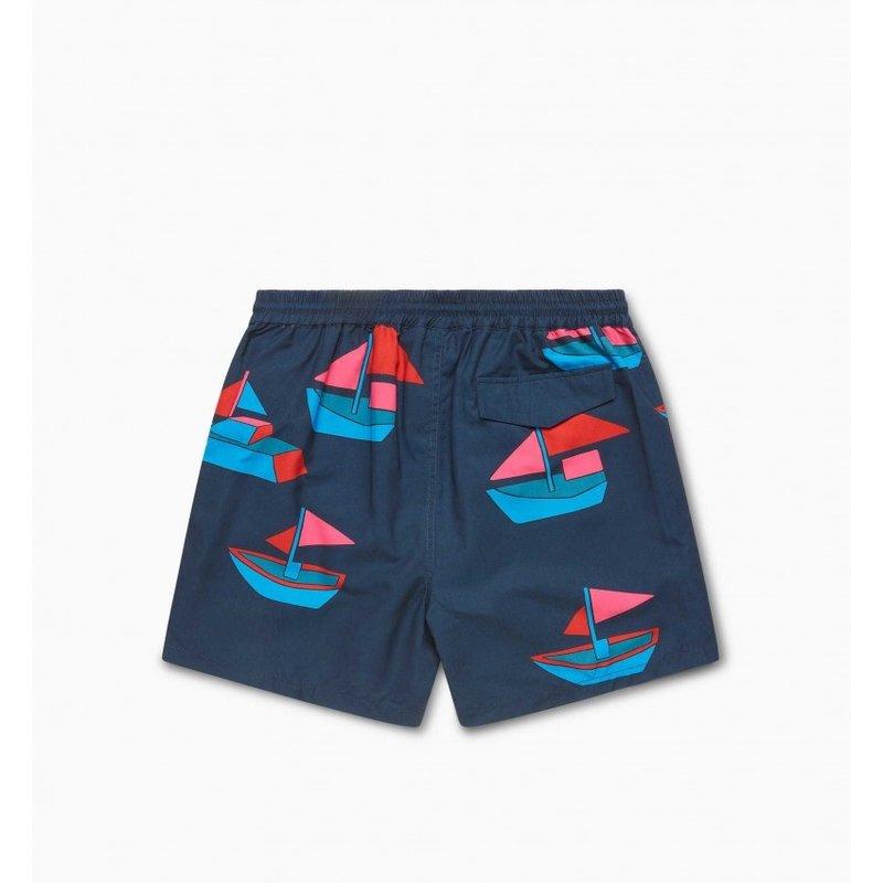 By Parra Paper Boats swim short navy Blue