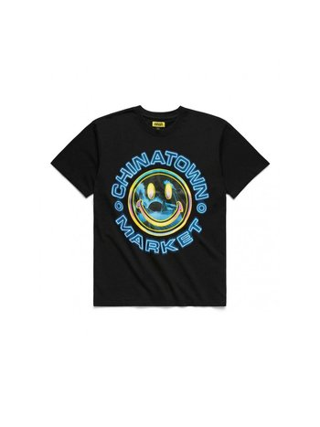 Chinatown Market Smiley Vapor Wave T-Shirt Black
