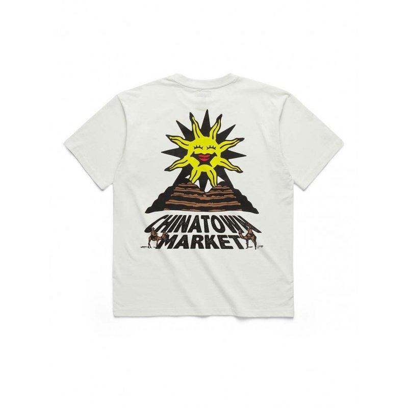 Chinatown Market Sunshine Over The Pyramids T-Shirt Cream