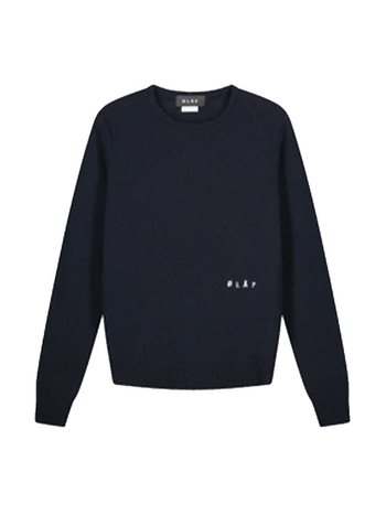OLAF HUSSEIN Knitted Sweater Navy
