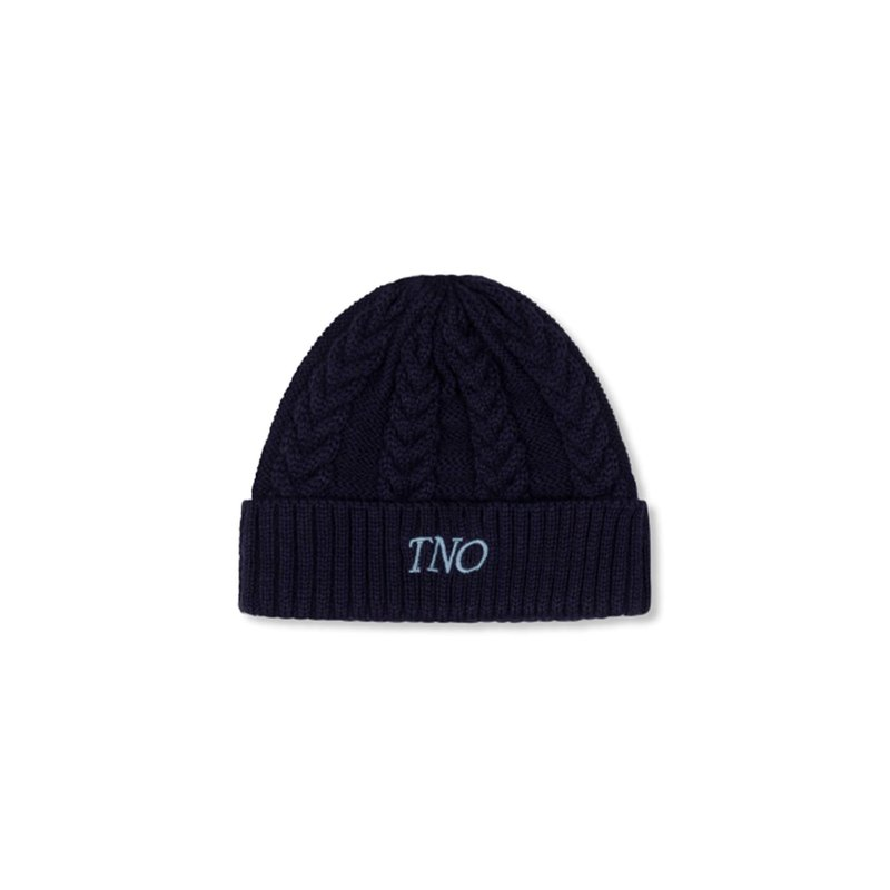 The New Originals Cable Knit Beanie Navy