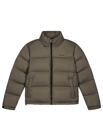 OLAF HUSSEIN puffer Jacket taupe