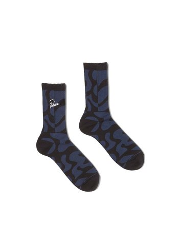 By Parra Duo Gem Stone Crew Socks Blue