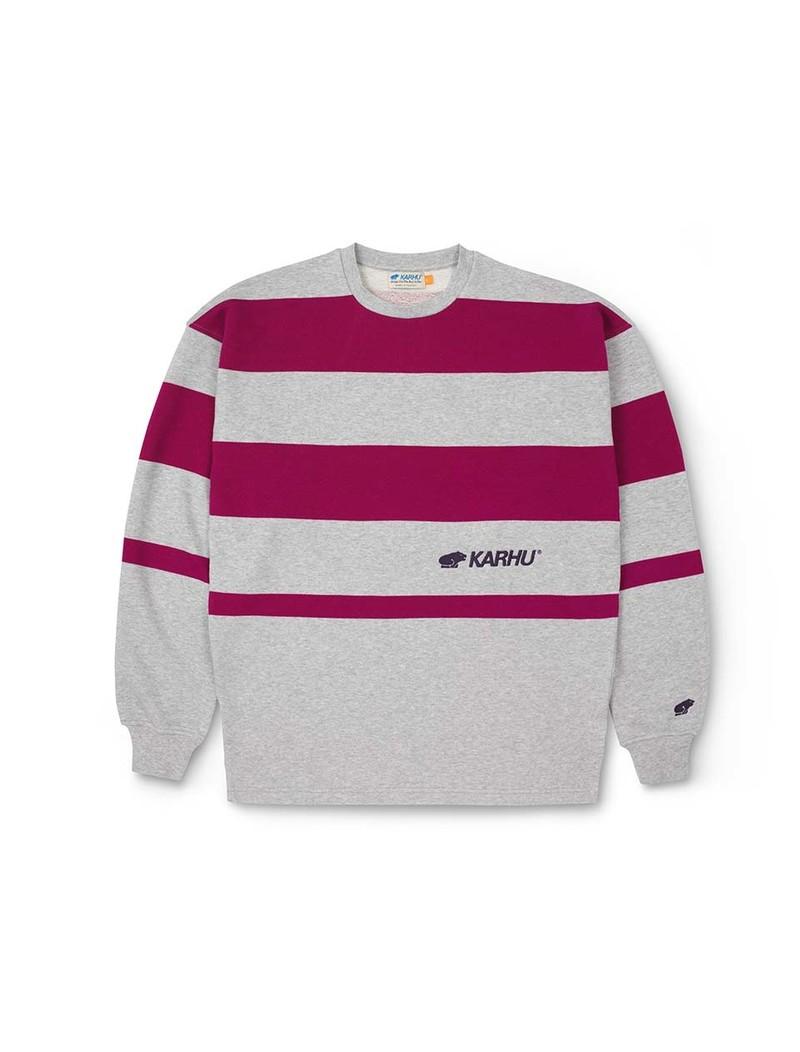 Karhu Uni Striped Sweatshirt Heather Grey Rhod.
