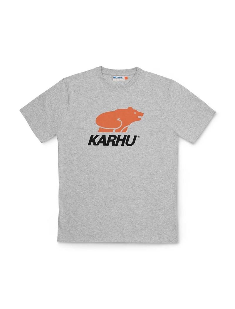 Karhu Basic Logo T-Shirt Heather Grey Burnt Orange