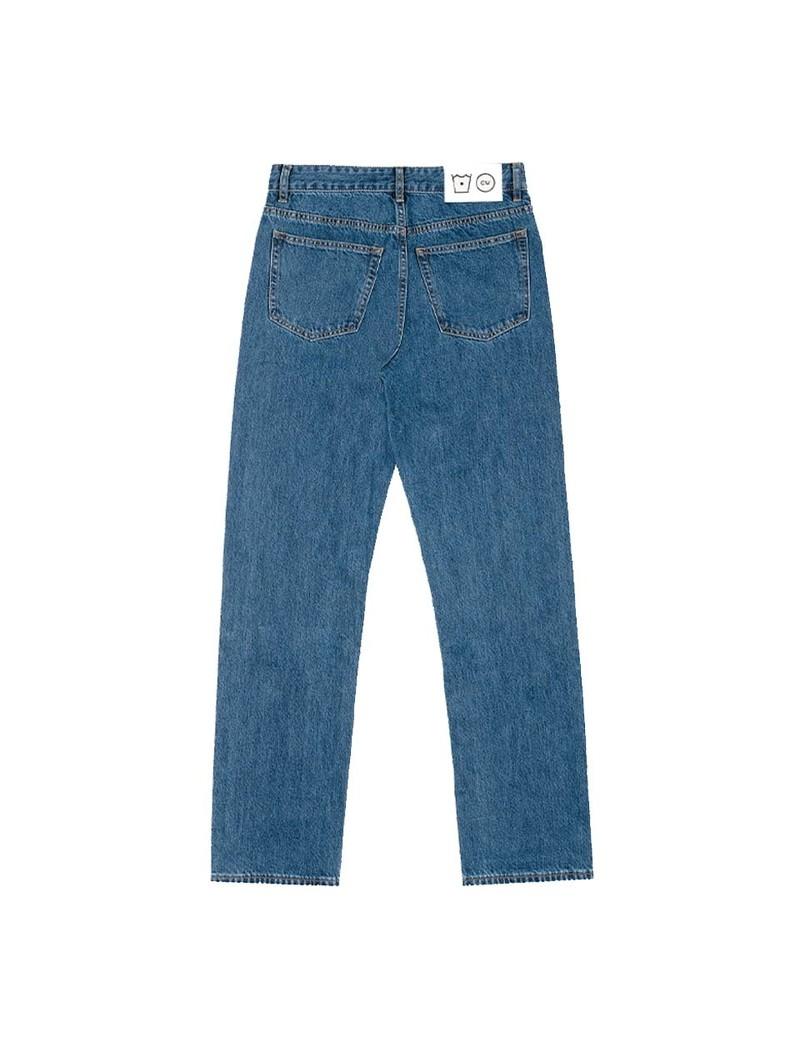 Cold Wash 5-Pocket Straight Jeans Dark Blue