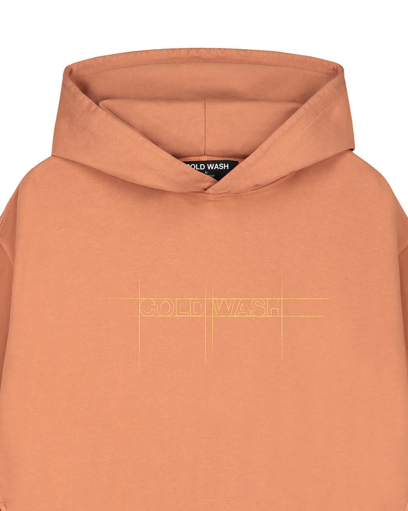 Cold Wash Sketched Logo Hoodie Rust