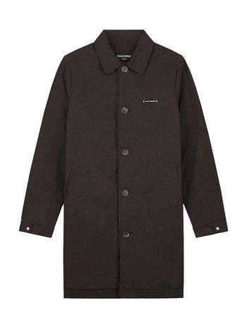 Cold Wash Waxed Long Coat Brown
