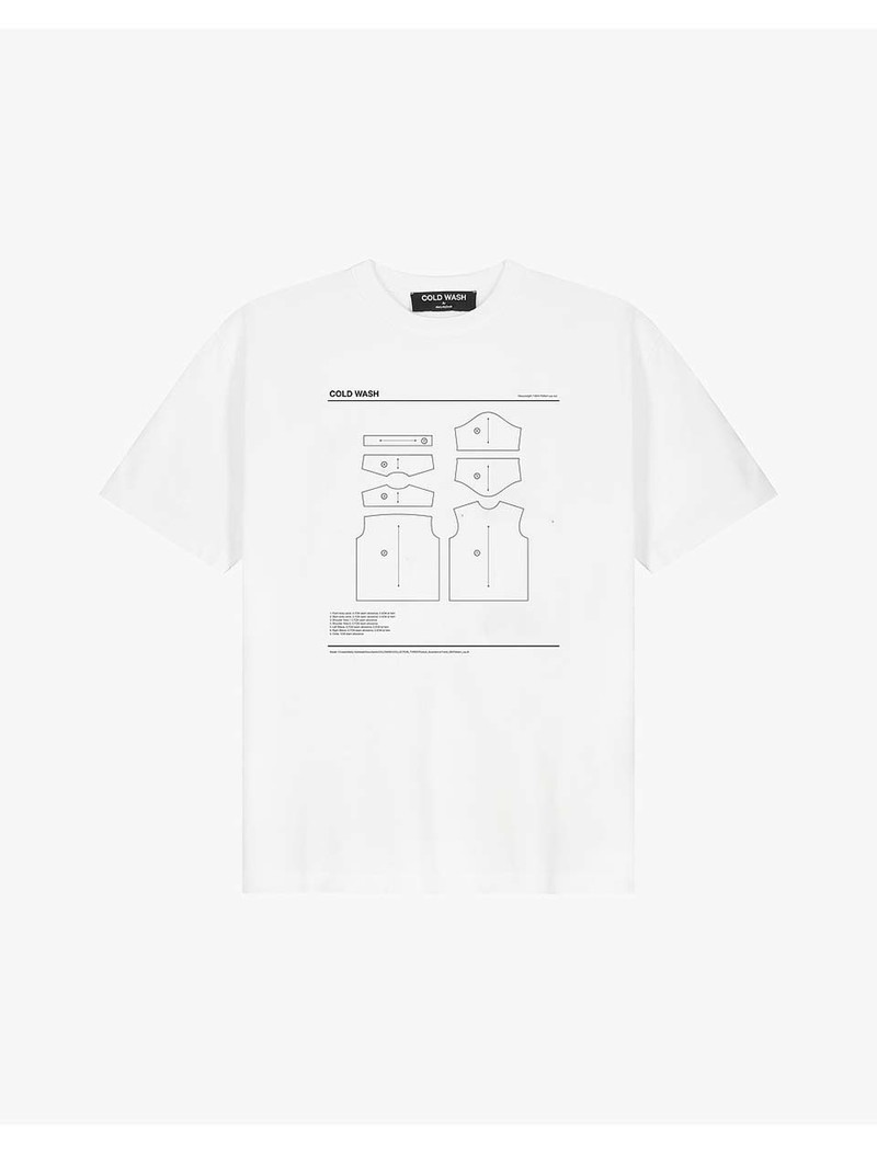 Cold Wash Pattern Lay t-Shirt White