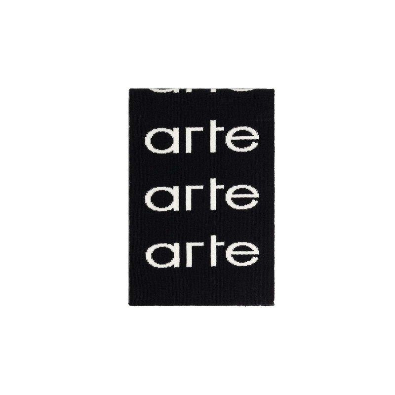 Arte Antwerp Alex Allover Scarf Black White