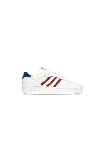 Adidas Rivalry Low Premium Footwear White Collegiate Burgundy Core White