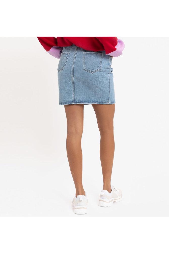 Blauwe spijkerrok