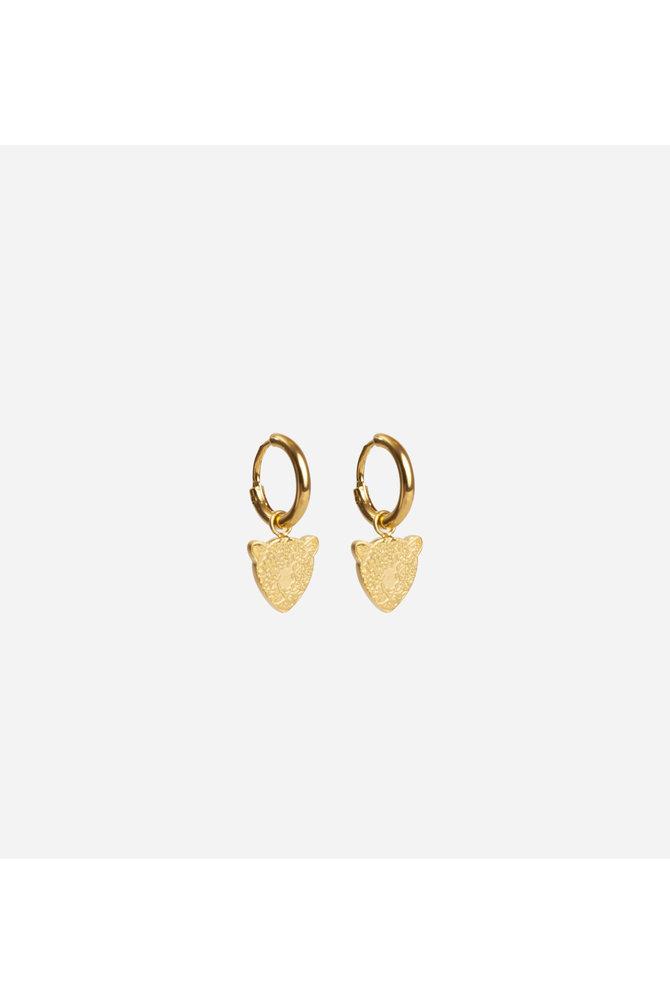 Gouden tijger oorbellen