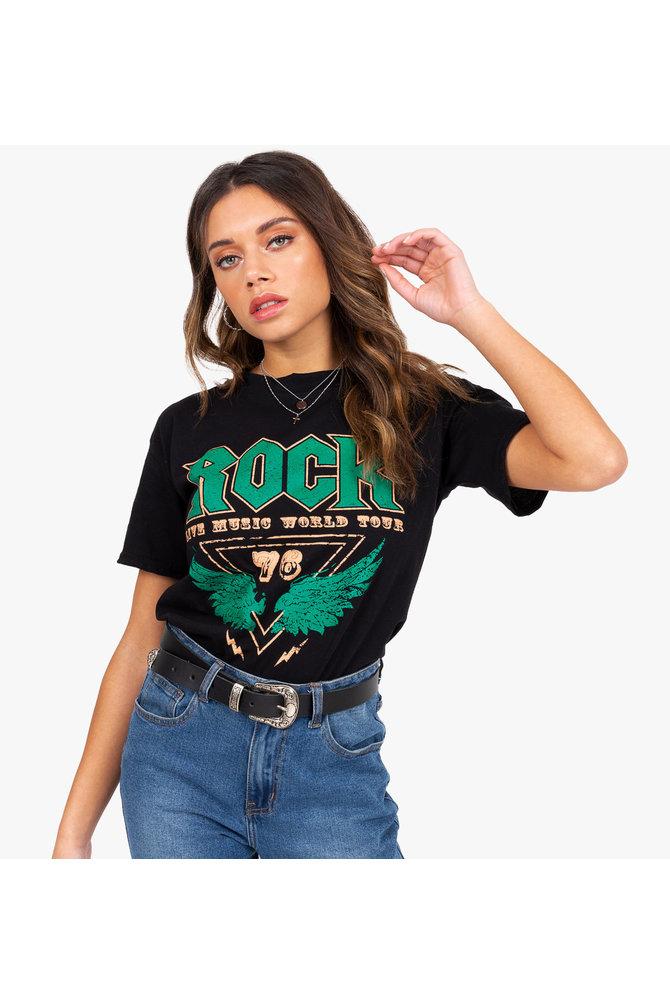Zwarte rock shirt