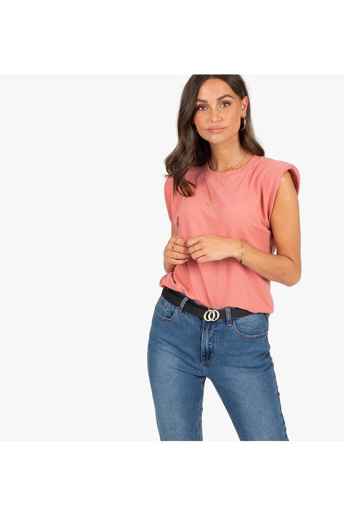 Coral padded shirt