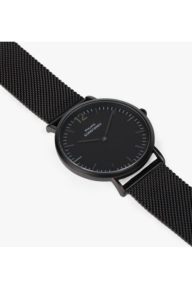 Zwarte stalen horloge