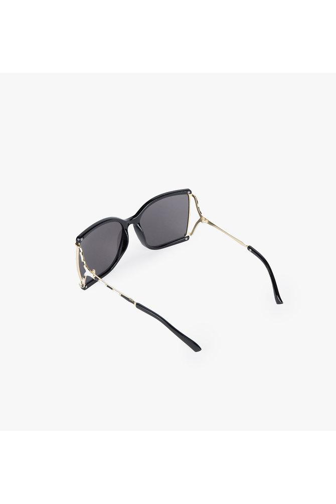 Zwarte square zonnebril