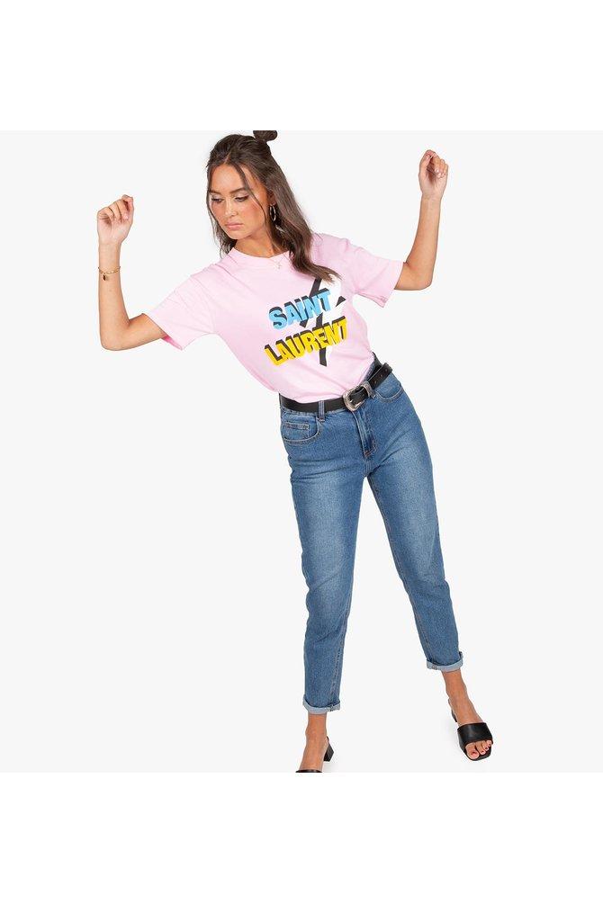 Roze saint laurent shirt