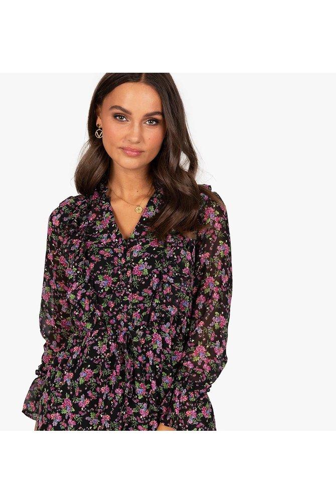 Multicolor bloemenprint jurk