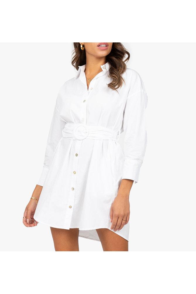 Witte overhemd jurk
