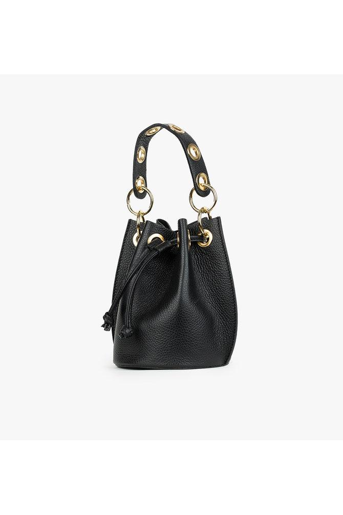Zwarte buidel tas