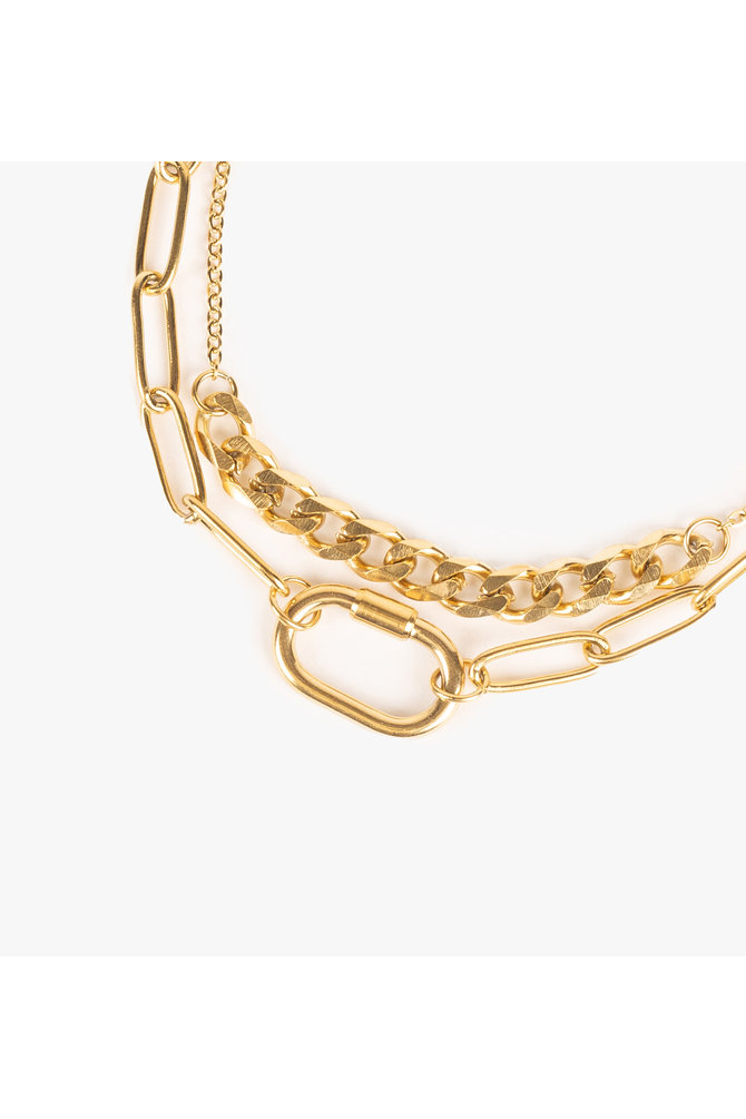 Gouden schakel armband